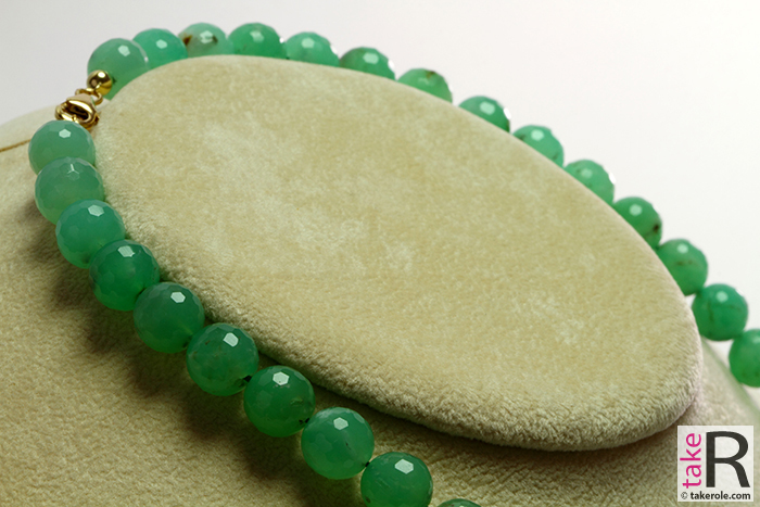 News Jewelry Chrysoprase Necklace