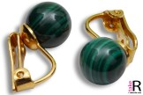 News Jewelry Malachite Earrings 8mm