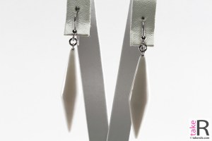 News Jewelry White Coral Earrings