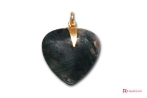 Extra Jadeide Pendant Heart 18x18mm in Gold 18K