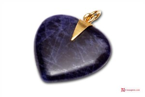 Extra Lapis Pendant Heart 18x18mm in Gold 18K