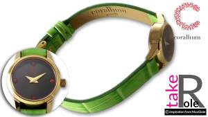 Corallium Watch 20mm Swiss movement with coral id05w