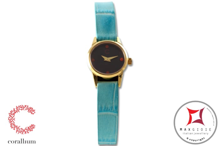 Corallium Watch 20mm Swiss movement with coral id07w