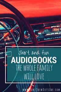 We love to travel with audiobooks. Instead of electronics, try listening to a fun and fantastic family audiobook for your next road trip. These short stories will delight both kids and adults.