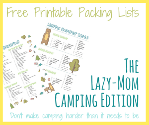 Make packing for your family camping trips easy with these super helpful packing lists... one for you and one for the kids.