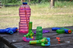 Outdoor toy rotation can solve both your messy yard and the problem of bored kids