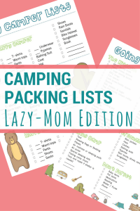 Family Camping | Make packing for your next camping trip easier by using these cute packing lists. There are even lists for the kids to organize their stuff too!