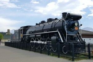 Train watching is a popular activity when exploring the town of Jasper