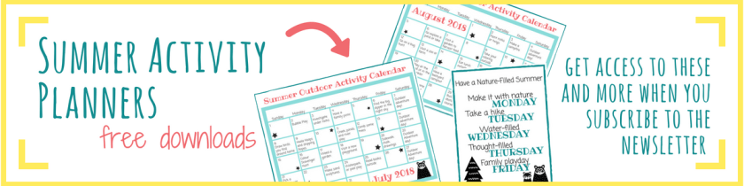 Image of printable summer planners for download