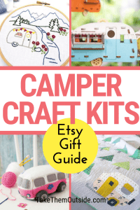 various camper craft kits available on Etsy