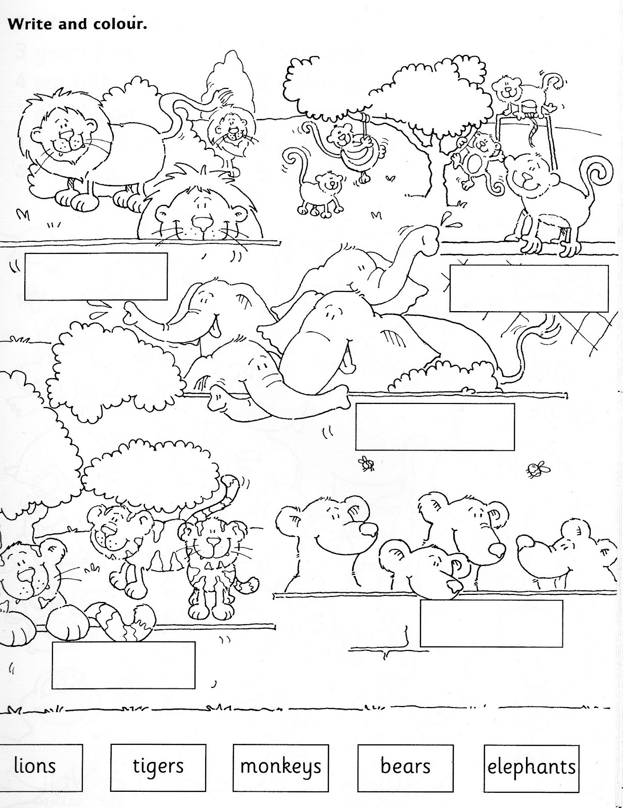 New 819 Worksheets With Zoo Animals