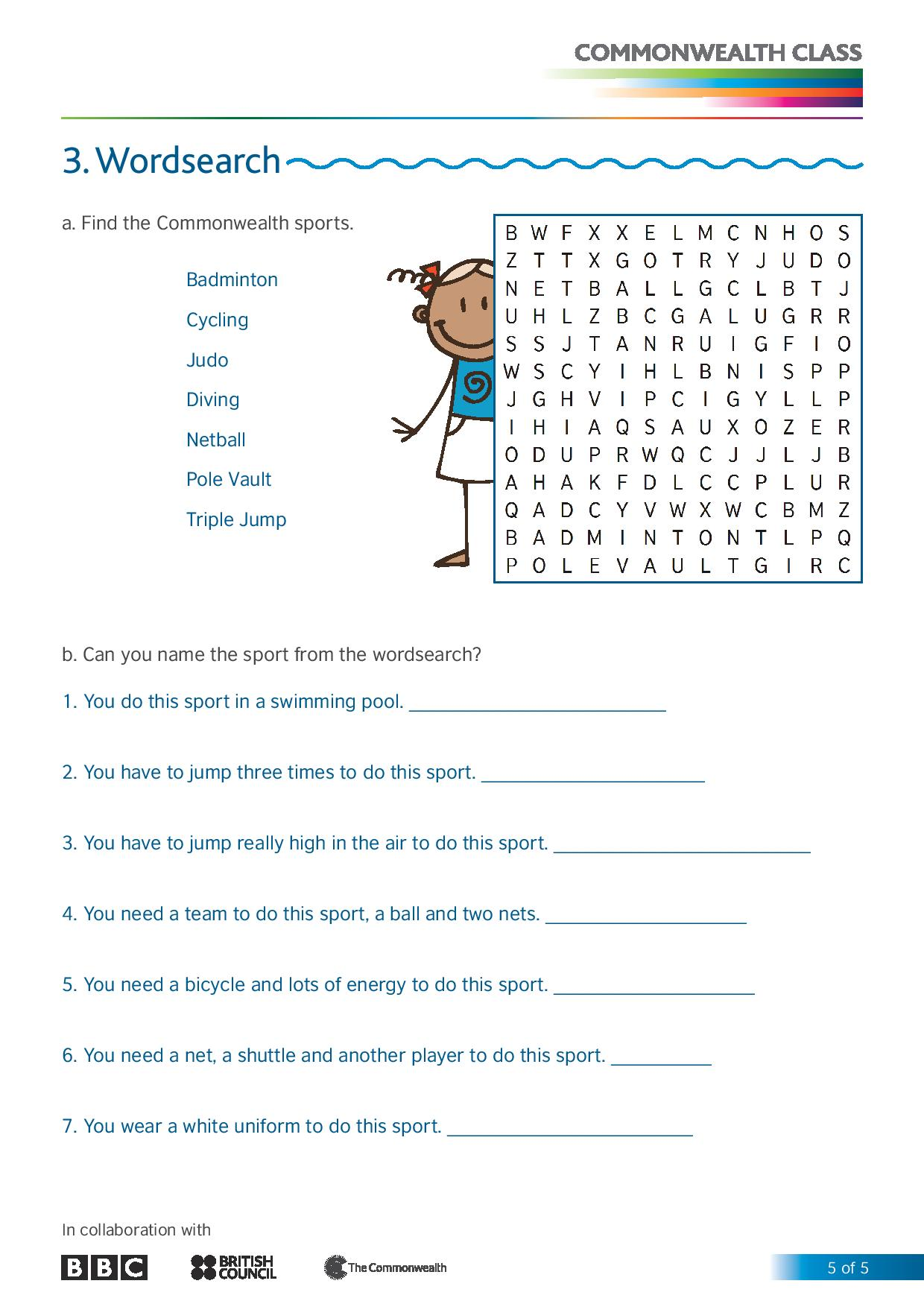 Sports At The Cw 7 10 Worksheet V4lite 0 Page 005