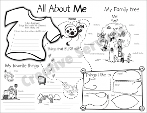All about me worksheetsTake the pen