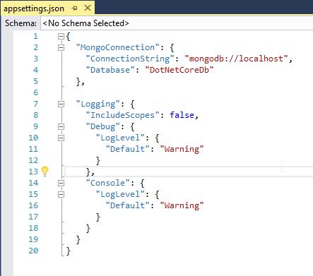 AppSettings json in ASP.NET Core 2.0 Application
