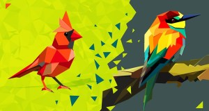 Triangulated Bird Origami Styled Bird in Adobe Illustrator