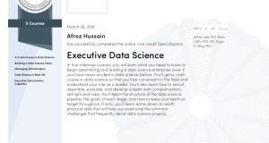 Executive Data Science Capstones