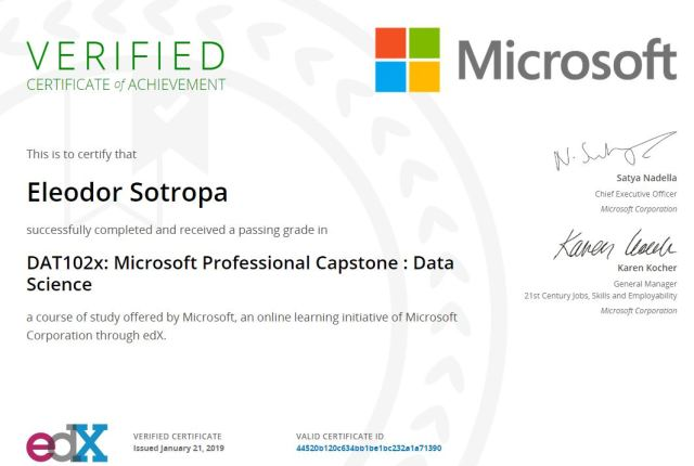 Microsoft Professional Capstone Data Science