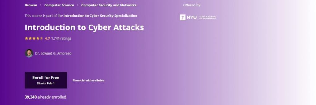 Nyu Introduction to Cyber Attacks Classes