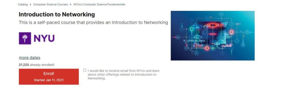 Nyu Introduction to Networking Classes