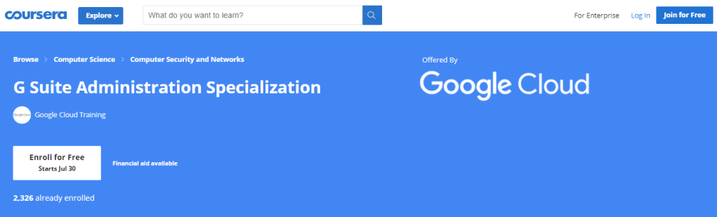 G Suite Administration Specialization