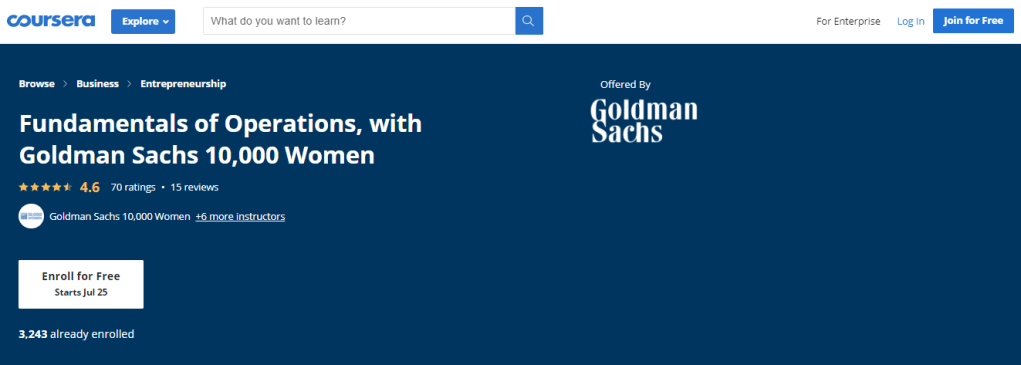 Fundamentals of Operations, with Goldman Sachs 10,000 Women