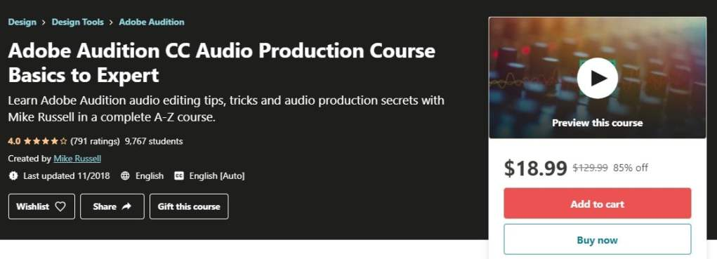 Free Adobe Audition Courses