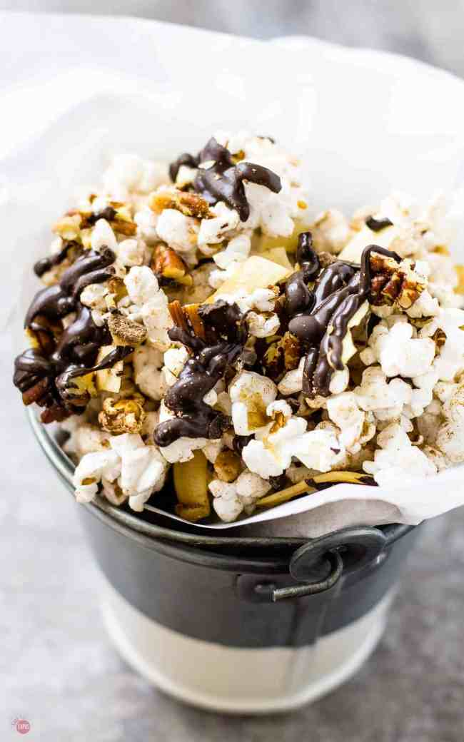 German Chocolate Popcorn has all the flavors of a German Chocolate Cake but easier for snacking! | Take Two Tapas