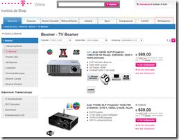T-Online Shop Preisfilter