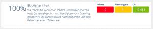 Status Blockierte Inhalte OnPage.org