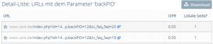 Detailansicht GET Parameter OnPage.org