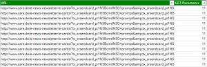 Zu dynamische URLs GET Parameter OnPage.org in Excel