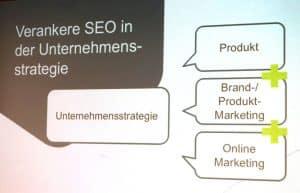 Vortrag: SEO im Online Marketing Mix - Unternehmensstrategie