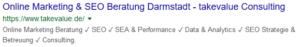 Title Tag auf der Suchergebnisseite