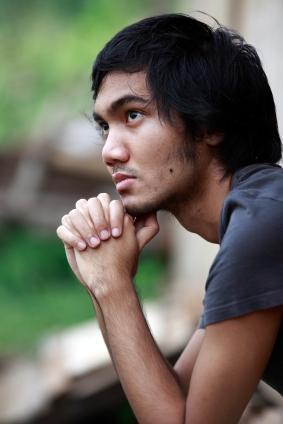 contemplative man thinking