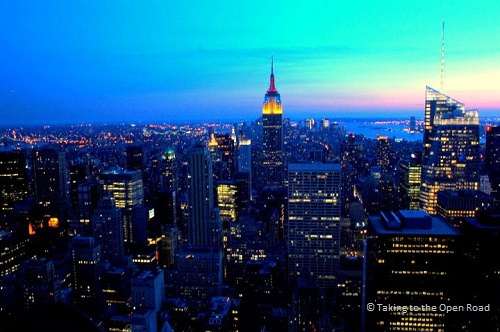 7 days in New York things to do in NYC sunset skyline Top of the Rock takingtotheopenroad peggytee