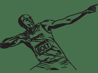Dubai print sticker Usain Bolt Artists DUBAI SHOP