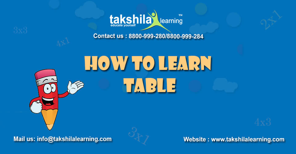 How to learn Table & multiplication table - Approaching Multiplication Facts