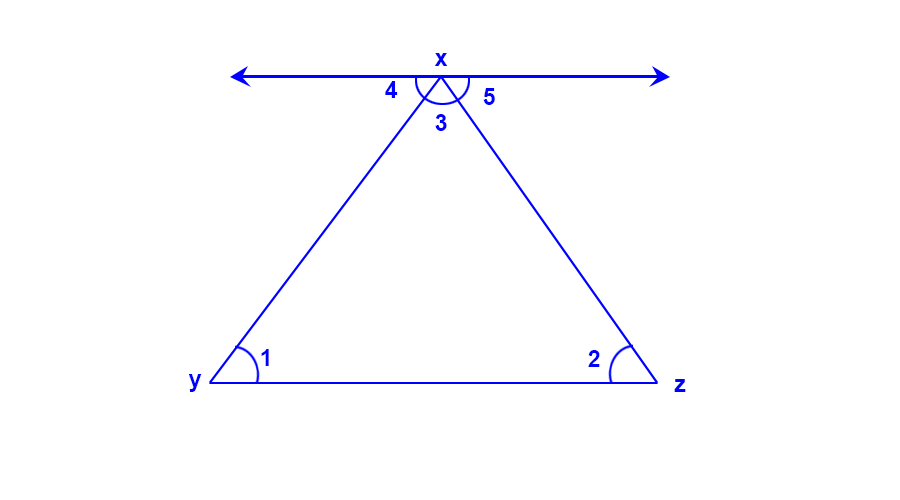 angle sum properties - Solutions for Class 7 Maths Chapter 6 The Triangle & Properties of Triangles