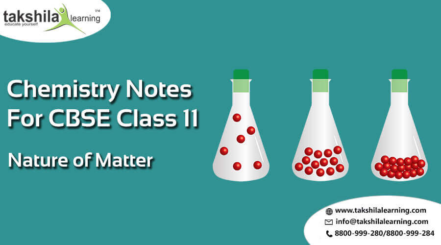 CBSE / NCERT Solutions for Chemistry Class 11 Science Nature of Matter