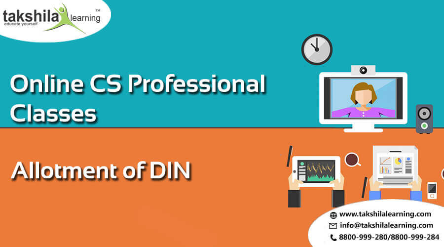 How to Allotment of DIN (Director Identification Number) - CS Professional