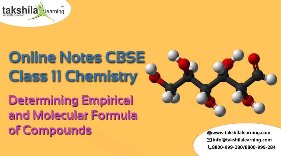 Class 11 Determining Chemistry Empirical and Molecular Formula of Compounds