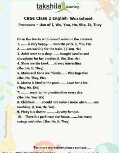 Download worksheet for class english also ncert  cbse use of pronouns practice rh takshilalearning