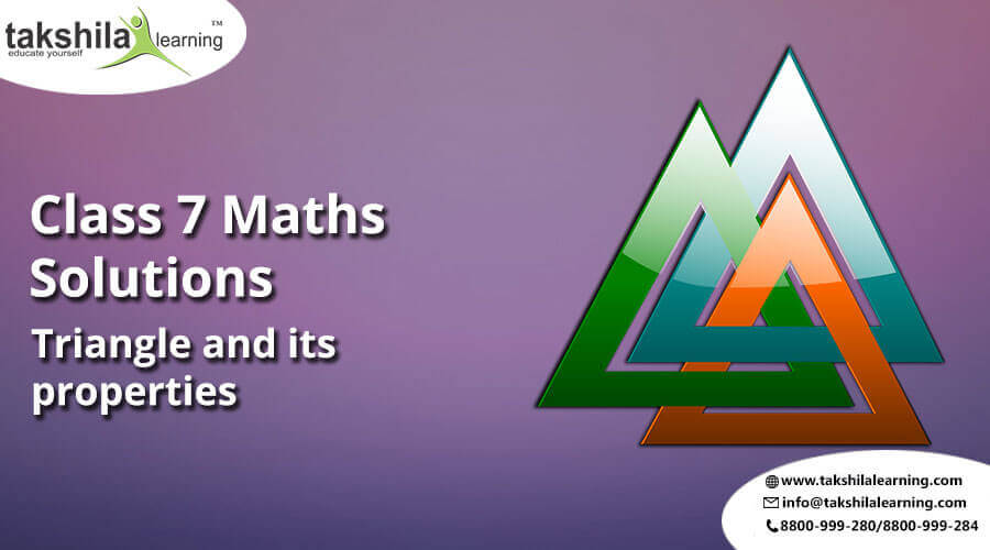 NCERT Solutions Class 7 Maths Triangle and its properties