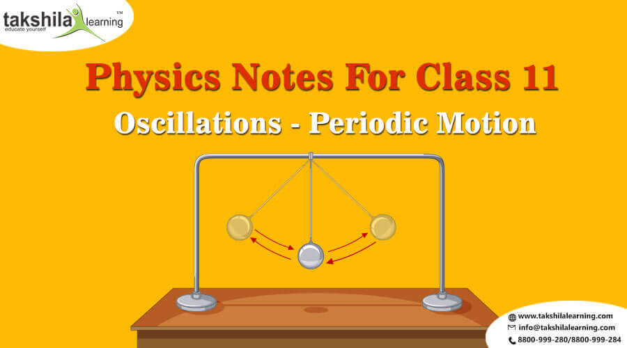 Physics Notes for Class 11 Oscillations - Periodic Motion