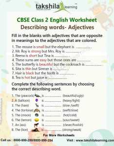 Download class english worksheet  adjectives also practice for grammar rh takshilalearning