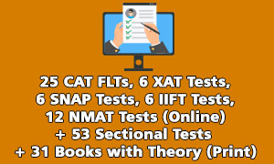 CAT , FLTs, XAT , SNAP , IIFT , NMAT Test Series & Theory Books Online