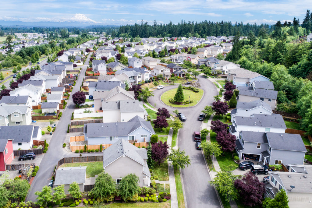 Drone aerial photography in Puyallup, Washington