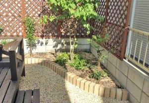 雑草をシャットアウトして花壇もリニューアル 大津市