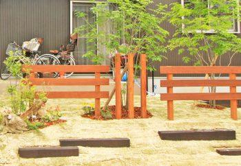 木製フェンス(イタウバ)草津市