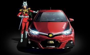 Toyota dévoile l'Auris II version Gundam de Char Aznable